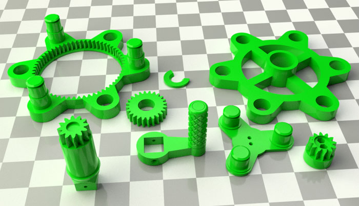photo about Gears Printable known as 3D Fashion 03: 3D-Printable Multi-Issue Planetary Products