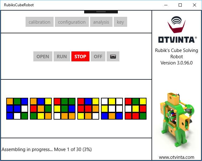 3D Model 12: 3D-Printable Rubiks's Cube Solving Robot, .STL Format